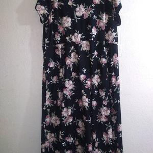 Chaps, Summer floral print dress, ladies, 3X